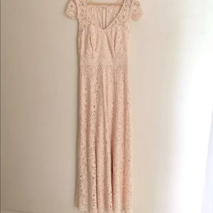 Review 8 Pink Lace Full Length Gown Cocktail Dress